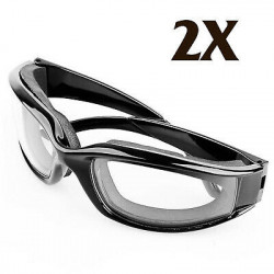 2X Tears Free Onion Goggles Glasses Onions Chopping Eye Protector Kitchen Gadget