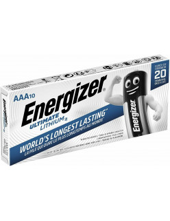 10 x Energizer AAA ULTIMATE Lithium Batteries LR03 L92 1.5v