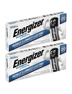 20 x Energizer AAA ULTIMATE Lithium Batteries LR03 L92 1.5v
